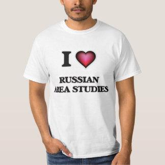 I Love Russian Area Studies T Shirt