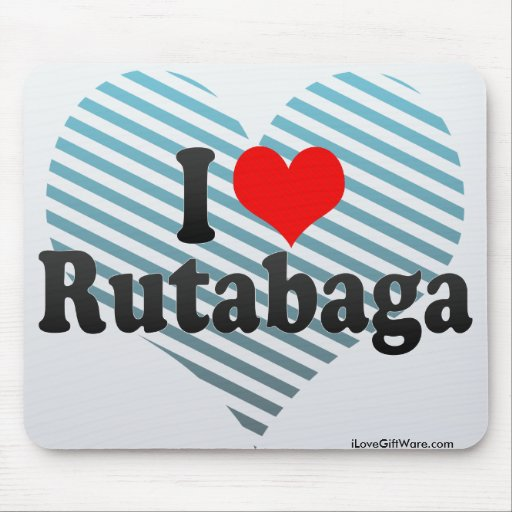 I Love Rutabaga Mousepads