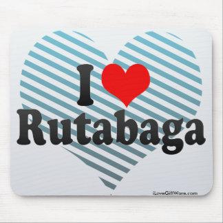 I Love Rutabaga Mousepads