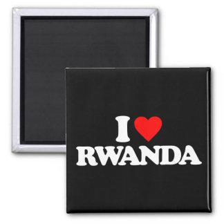I LOVE RWANDA MAGNET