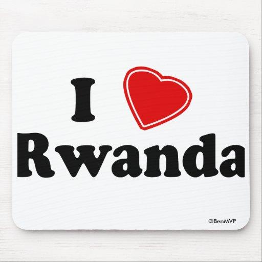 I Love Rwanda Mousepad
