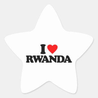 I LOVE RWANDA STAR STICKERS