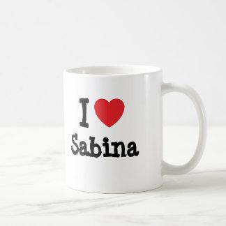 I love Sabina heart T-Shirt Mugs