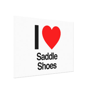 I love saddle shoes gallery wrapped canvas