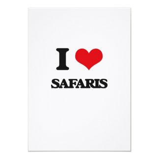 I Love Safaris 5x7 Paper Invitation Card