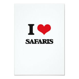 I Love Safaris 3.5x5 Paper Invitation Card