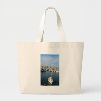 I love sailing large tote bag