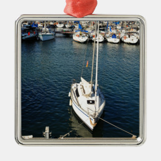 I love sailing metal ornament