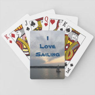 I Love Sailing Playing Cards