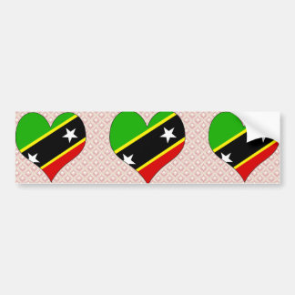 I Love Saint Kitts And Nevis Bumper Sticker