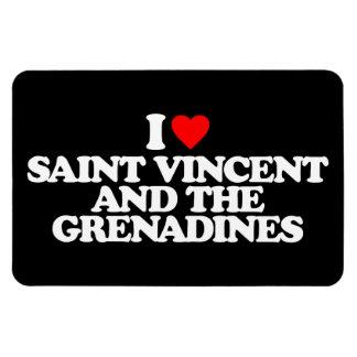 I LOVE SAINT VINCENT AND THE GRENADINES RECTANGULAR MAGNET