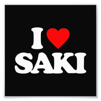 I LOVE SAKI PHOTOGRAPHIC PRINT