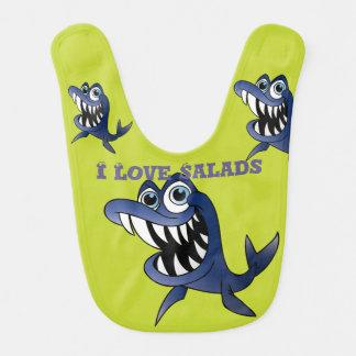 I Love Salads Shark Fish Bib