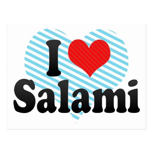I Love Salami Postcards