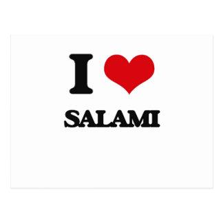 I Love Salami Postcard