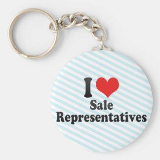 I Love Sale Representatives Keychain