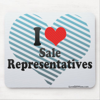 I Love Sale Representatives Mouse Pad