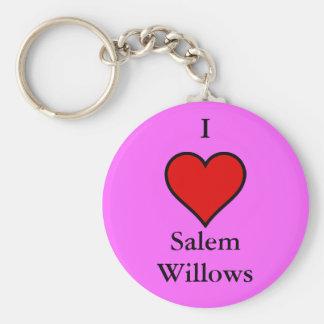 I Love Salem Willows Key Ring
