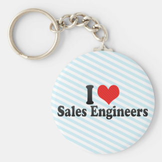 I Love Sales Engineers Key Chain