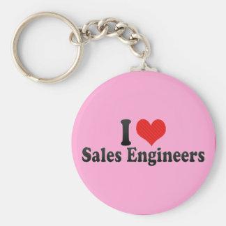 I Love Sales Engineers Key Chains