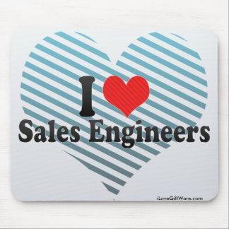 I Love Sales Engineers Mousepads