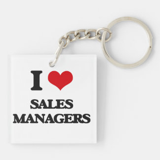 I love Sales Managers Acrylic Key Chain