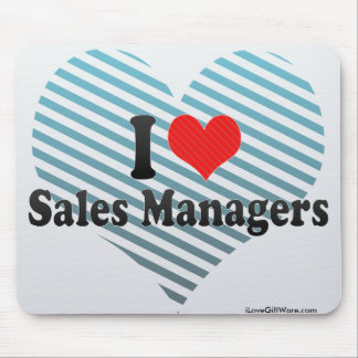 I Love Sales Managers Mouse Pads