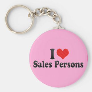 I Love Sales Persons Key Chain