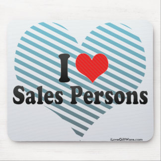I Love Sales Persons Mousepads