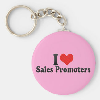 I Love Sales Promoters Key Chain