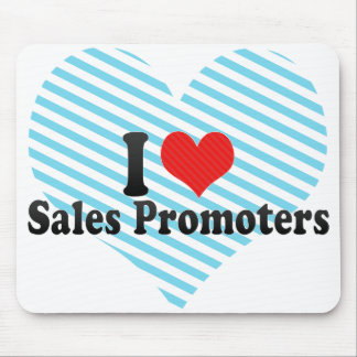I Love Sales Promoters Mousepads