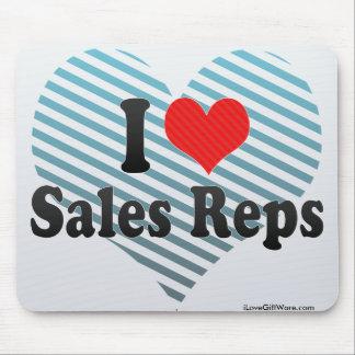 I Love Sales Reps Mousepad