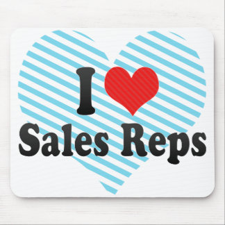 I Love Sales Reps Mouse Pad