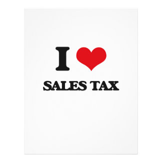 I Love Sales Tax Personalized Flyer