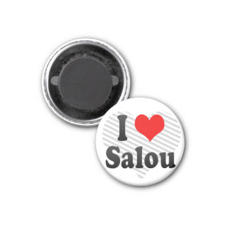 I Love Salou, Spain. Me Encanta Salou, Spain 3 Cm Round Magnet