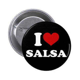 I Love Salsa 6 Cm Round Badge