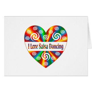 I Love Salsa Dancing Card