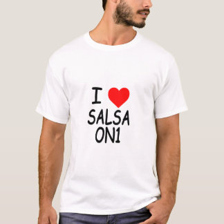 I Love Salsa On 1 T-Shirt