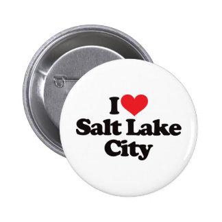 I Love Salt Lake City 6 Cm Round Badge