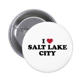 I Love Salt Lake City Utah 6 Cm Round Badge
