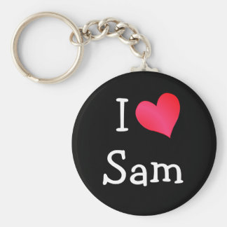 I Love Sam Key Chain