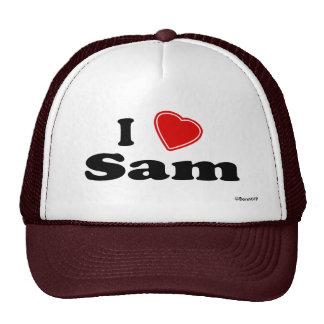 I Love Sam Trucker Hats
