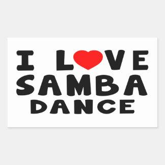 I Love Samba Dance Sticker