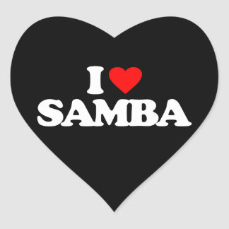 I LOVE SAMBA HEART STICKER