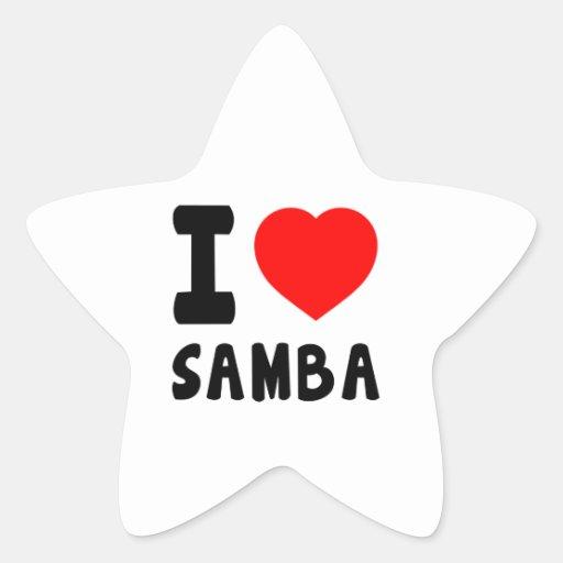 I Love Samba Star Sticker