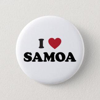 I Love Samoa 6 Cm Round Badge