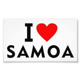 I love Samoa country like heart travel tourism Photo Print
