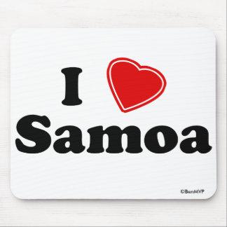 I Love Samoa Mouse Pad