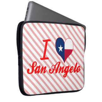 I Love San Angelo, Texas Laptop Sleeve