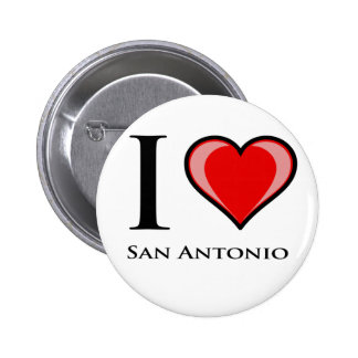 I Love San Antonio Pinback Buttons